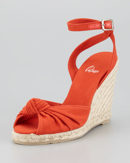 Brenda Knotted Espadrille Wedge
