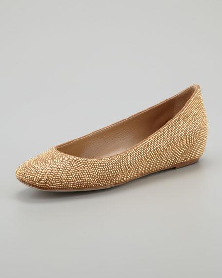 Studded Wedge Ballerina, Gold