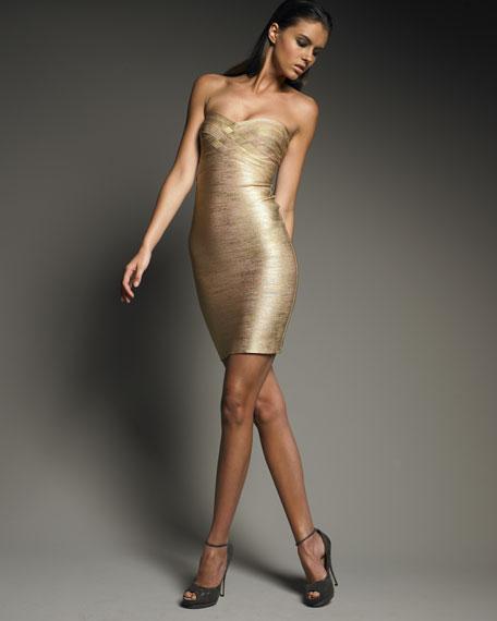 Metallic Strapless Dress