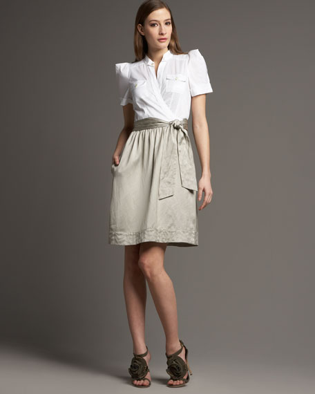 Steele Contrast Wrap Dress