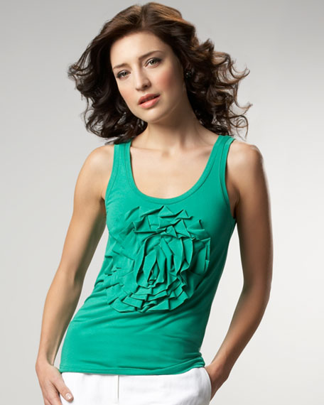 with a twist rosette tank