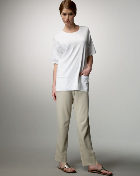 Joan Vass Side-Zip Ankle Pants