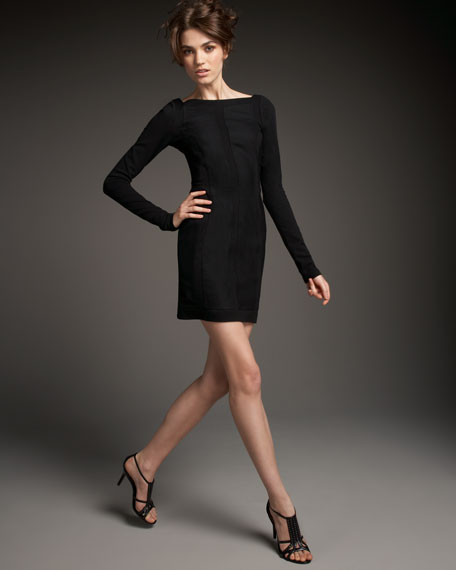 Carita Inset-Detail Dress