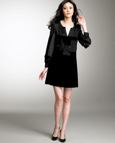 Velvet & Charmeuse Dress