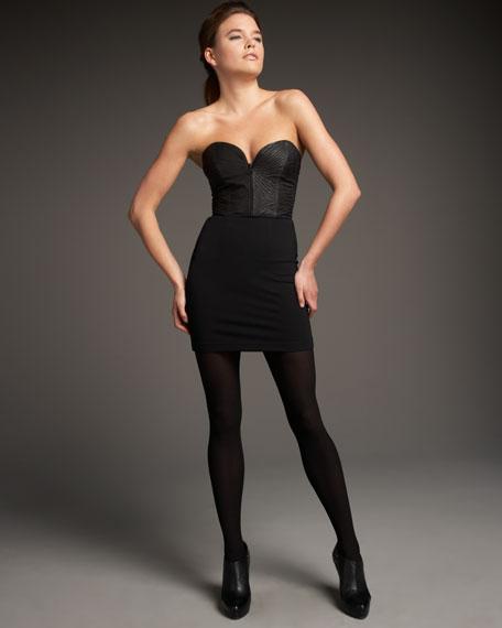 Annie Leather Bustier Dress