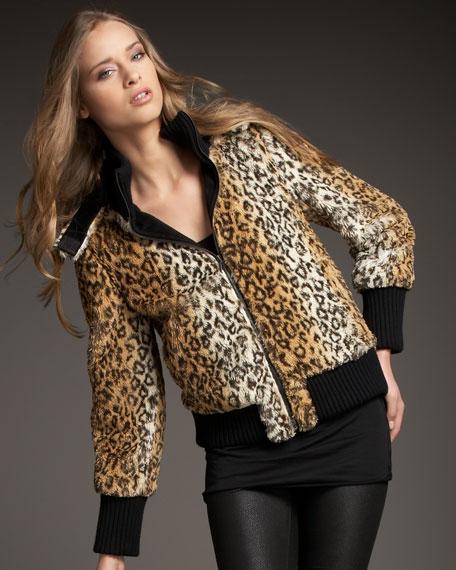 Chrissy Leopard-Print Jacket