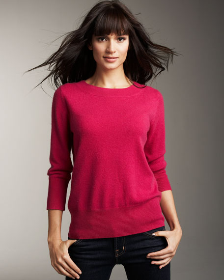Cashmere Crew Neck Sweater, Women's