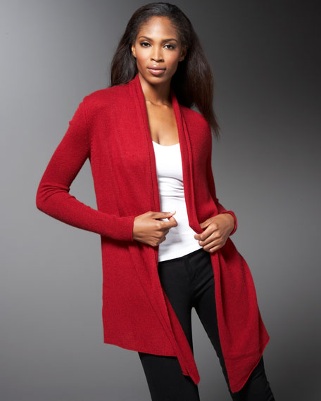 Drape-Neck Cardigan
