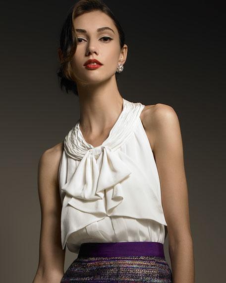 lucinda tie-neck blouse