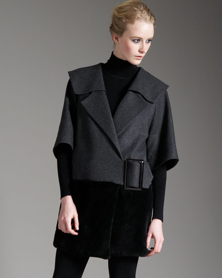 Fur-Bottom Jacket