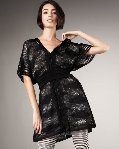 Banded Paisley-Lace Dress