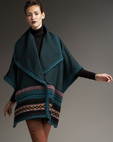 Folk Art Wool Coat