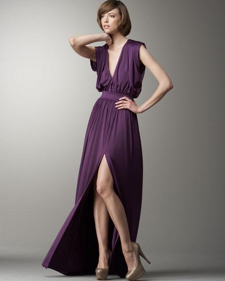 Jersey Deep-V Dress