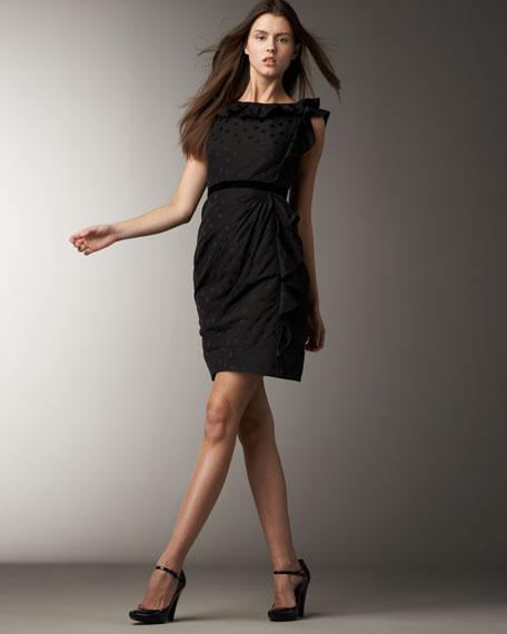 Dotted Ruffle Dress