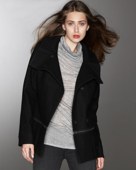 Two-In-One Wool Car Coat
