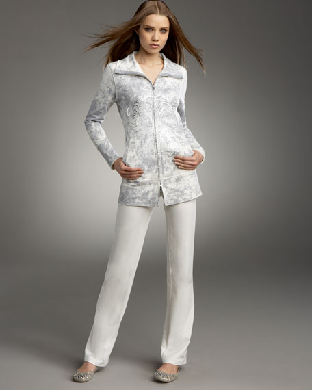 Foil-Print Jogging Suit