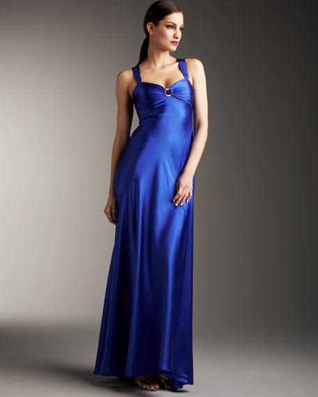 Low-Back Charmeuse Gown