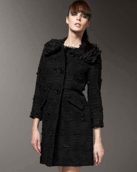 Caroline Houndstooth Coat