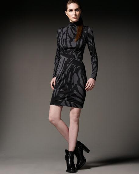 Tabea Printed Turtleneck Dress