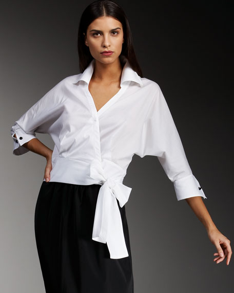 Lily Tie-Waist Blouse