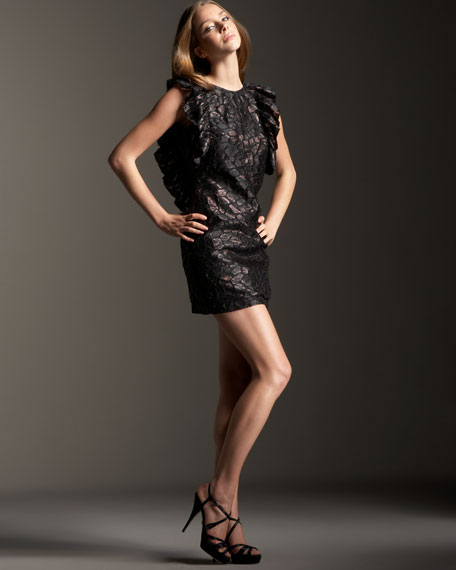 Leon Metallic Organza Dress