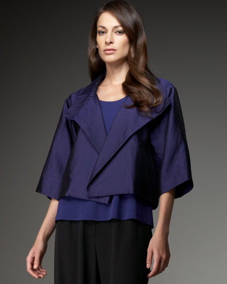 Eileen Fisher Draped Crepe Jacket