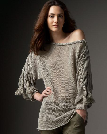 Braided Linen Sweater