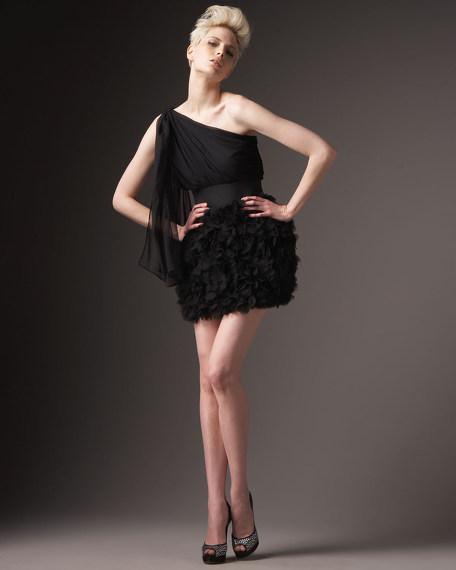 Drape Petal Party Dress