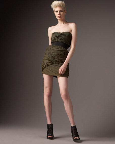 Strapless Netting Dress
