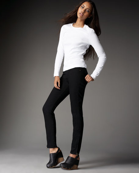 Dynasty Black Zip-Ankle Super-Stretch Leggings