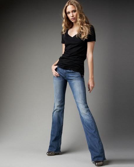 Boot-Cut Beaded Daring Cleo Jeans