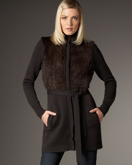 Oriana Wool-Rabbit Sweater, Women's