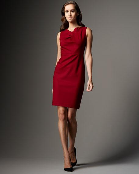 Lori Gathered-Neck Dress