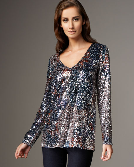 Audrey Sequined Blouse