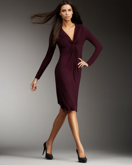 Stretch Knit Jersey Dress