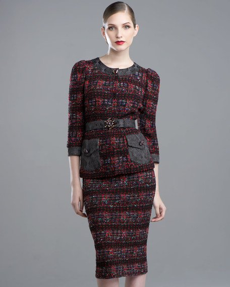 Stained Glass Tweed Skirt