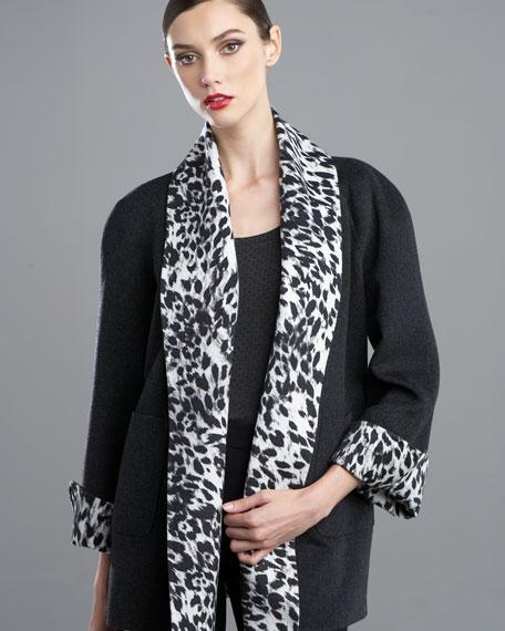 Double-Face Lynx-Print Jacket