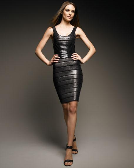 Sequins Round Neck Dress