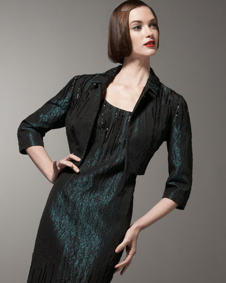 Beaded Jacquard Jacket