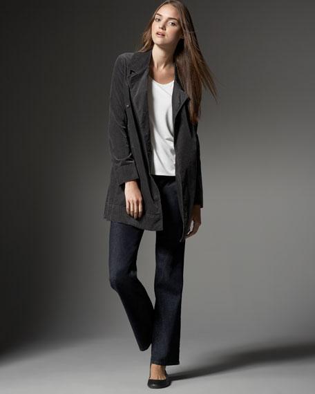 Eileen Fisher Long Stretch-Cord Jacket, Women's