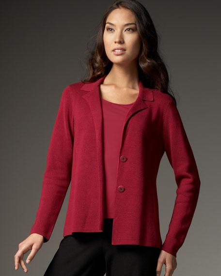 Silk Cotton Interlock Shaped Jacket