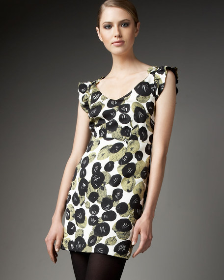 Floral-Print Silk-Cotton Dress