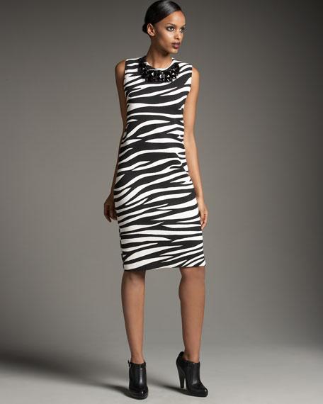 Galerry zebra sheath dress