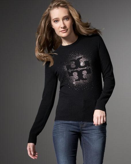 Vika Logo Sweater, Black