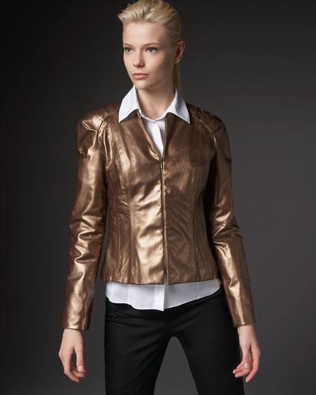 Iridescent Leather Jacket