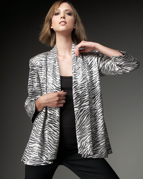 Sequined Zebra Jacket