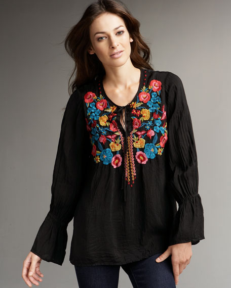 Bouncy Flower Embroidered Tunic