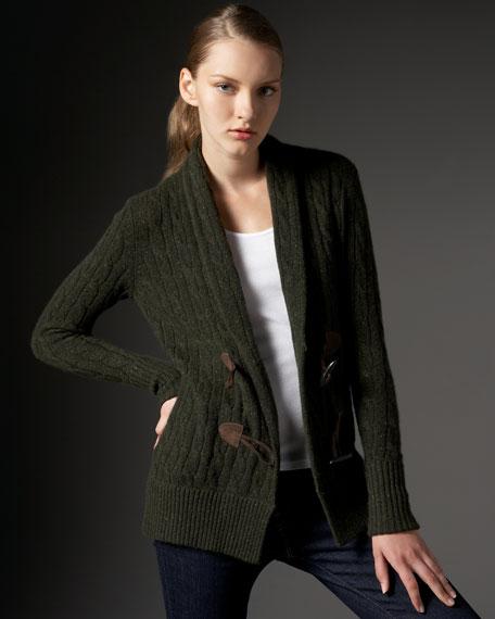 Cashmere Cable-Knit Blazer