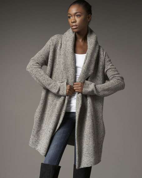 Vince Tweed Sweater Coat