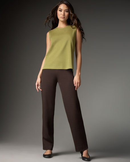 Wool Straight-Leg Pants